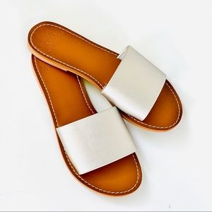 Abercrombie & Fitch | Faux Leather Slide Sandals